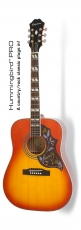Epiphone Hummingbird Pro Faded Cherry Sunburst